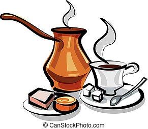 traditionnel, café turc