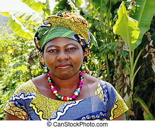 traditionnel, femme, habillement, africaine