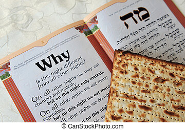 traditionnel, il, libéré, matzo, saint, predominantly, table., ancien, israélites, commemorates, pâque, feuille, histoire, jour, juif, festival., exode, seder
