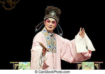 traditionnel, opéra, chinois, acteur