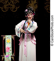 traditionnel, opéra, joli, chinois, actrice