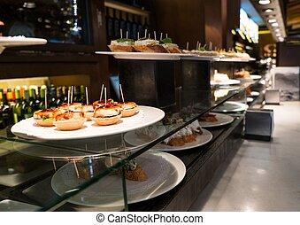 traditionnel, plaque, restaurant, pinchos, basque