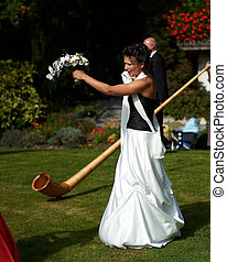 traditionnel, suisse, mariage