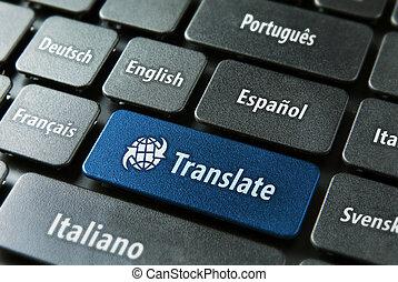 traduction, concept, service, ligne