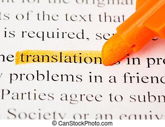 traduction, mot
