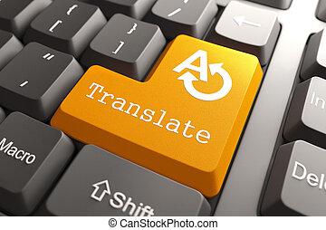 traduire, button., clavier