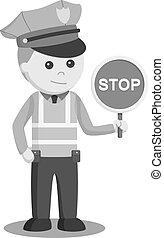 trafic, arrêt, signe police