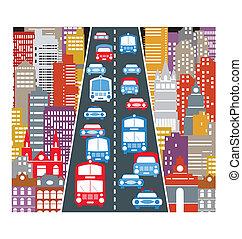 trafic automobile
