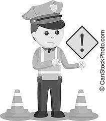 trafic, danger, signe police