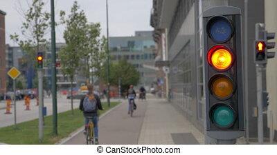 trafic, ville, vélo, lumières