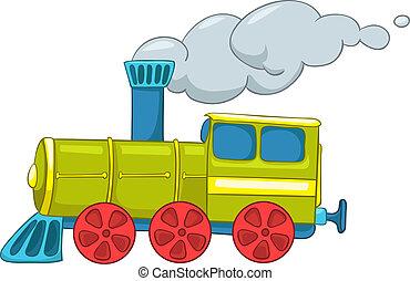 train, dessin animé