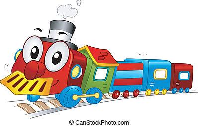 train jouet, mascotte