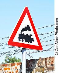 train, panneaux signalisations