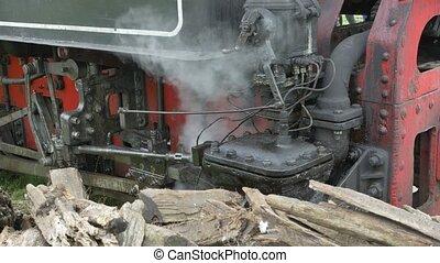 train, soupape, vapeur, engrenage