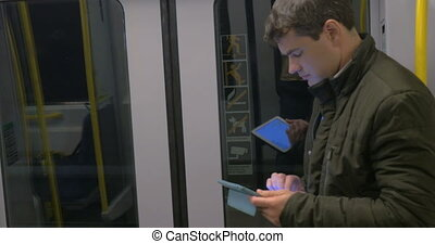 train souterrain, tampon, banlieusard