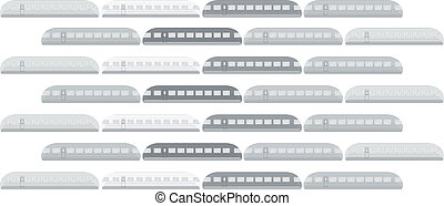 train, vecteur, illustration