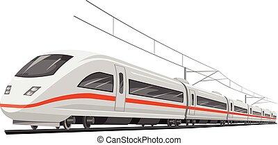 train., vecteur, vitesse