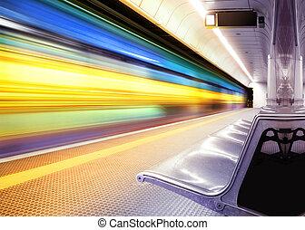 train, vitesse, métro