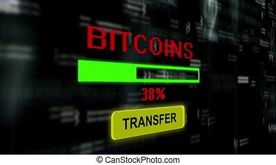 transfert, bitcoins