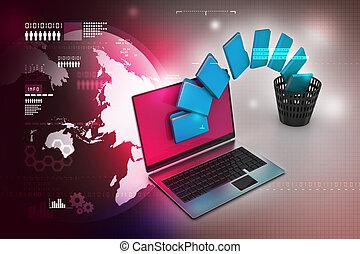 transfert, dossier, fichier