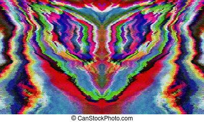 transformations, glitch, lumière, charmer, arrière-plan., imitation, iridescent