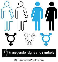 transgender, ensemble, symbole, icône