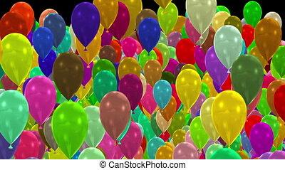 transition, ballons