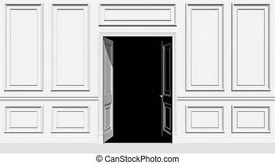 transition, canal, porte, alpha, ouverture