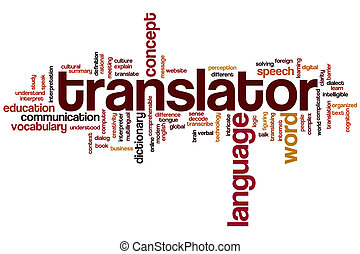 translator, mot, nuage
