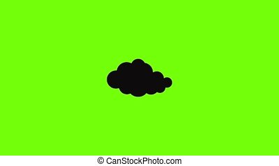 translucide, animation, nuage, icône