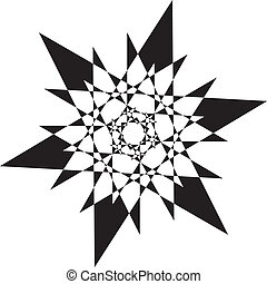 transparence, arabesque, résumé, élément, stellaire, arrière-plan noir