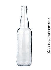 transparent, bouteille, vide, bière