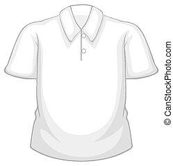 transparent, chemise, fond, vide, blanc, isolé