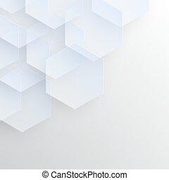 transparent, fond, hexagones, résumé