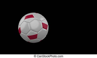 transparent, football, pologne, fond, drapeau, balle, voler, canal, alpha