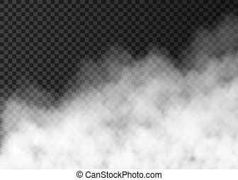 transparent, fumée, isolé, blanc, ou, brouillard, arrière-plan.