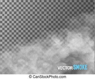 transparent, vecteur, arrière-plan., fumée