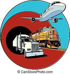 transport, écusson