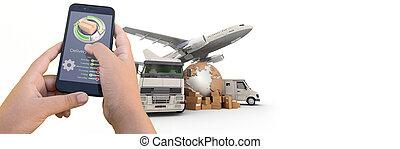 transport, international, poursuite, app