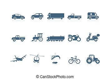 transport, piccolo, icônes, -, seri