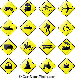 transport, signe, route