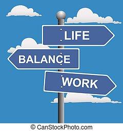 travail, équilibre, vie