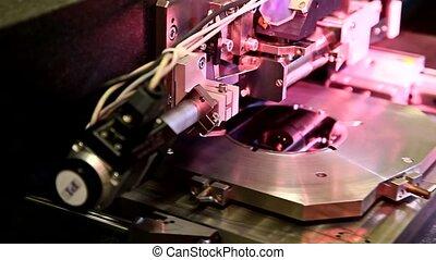 travail, équipement, essai, microélectronique, laboratoire