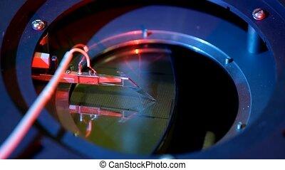 travail, équipement, essai, microélectronique, prober