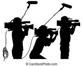 travail, cameramans