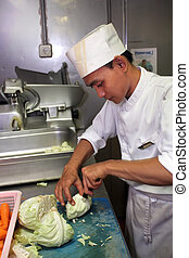 travail, chef cuistot