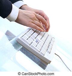 travail, clavier