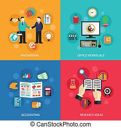 travail, concept, bureau affaires