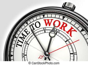 travail, concept, pointeuse