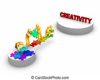 travail, créativité, équipe